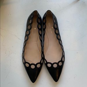 Kate Spade Leather Pointed Toe Flats